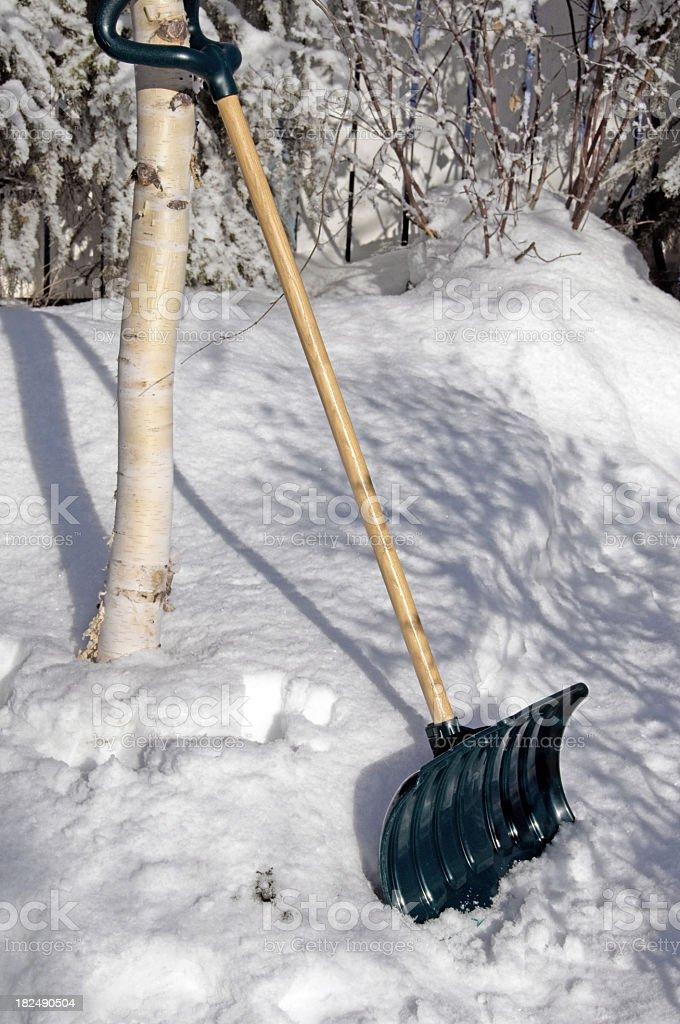 Snow Shovel ... Resting stock photo