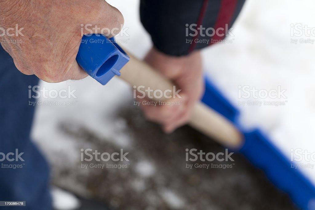 Snow Shoveling stock photo