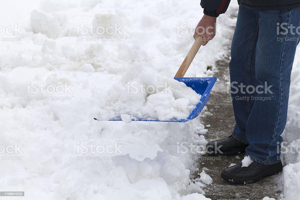 Snow Shoveling royalty-free stock photo