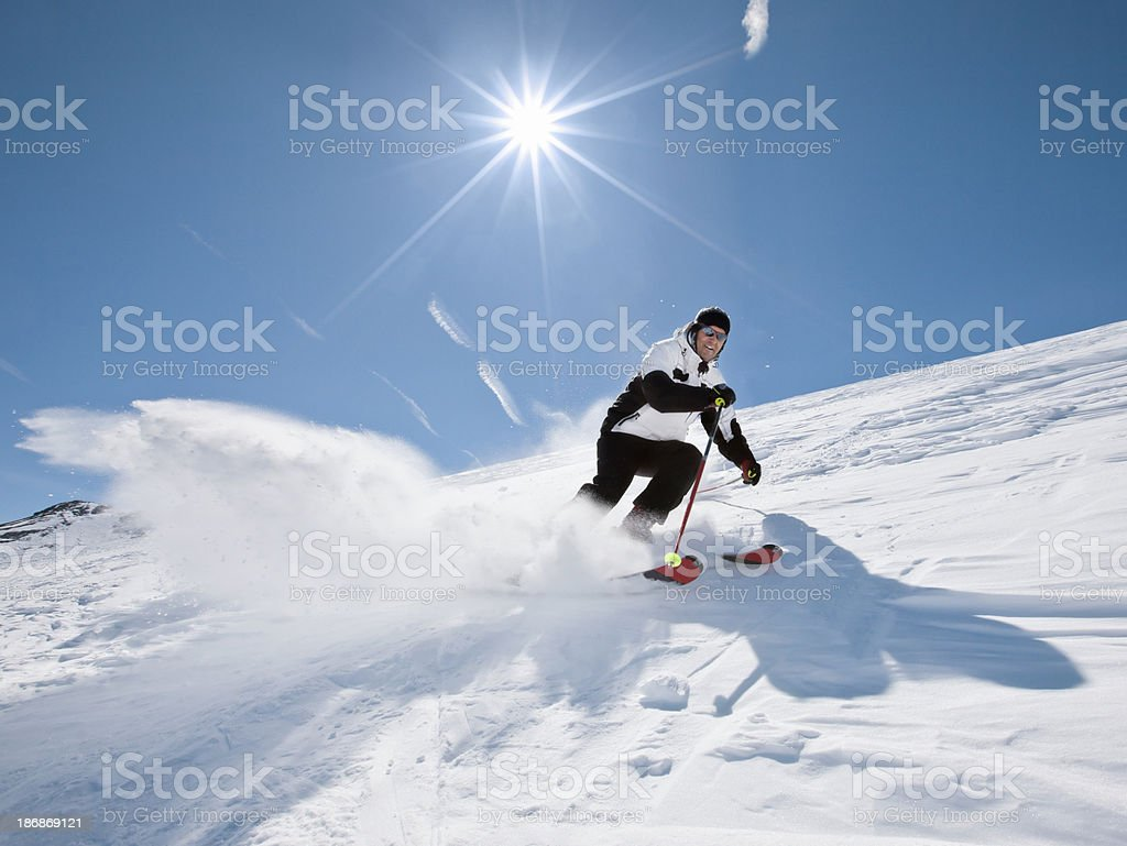 Snow Skier - Carving stock photo