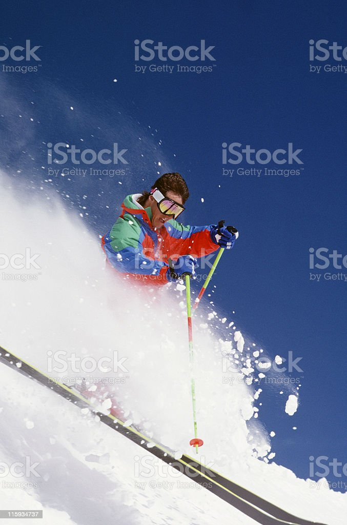 Snow Skier in Action royalty-free stock photo