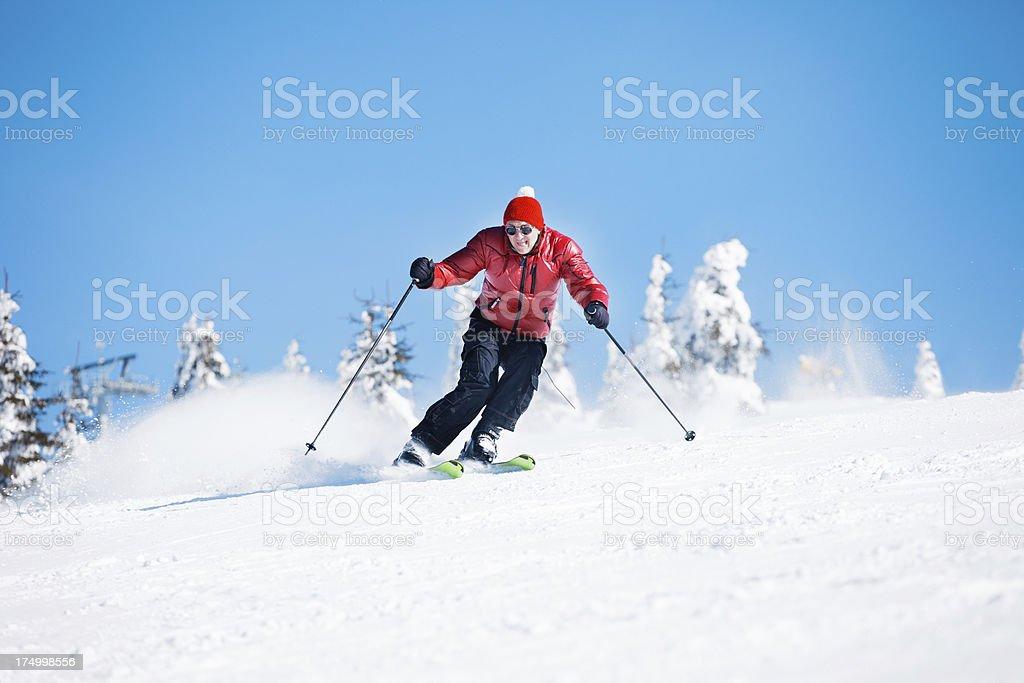 Snow Skiing royalty-free stock photo