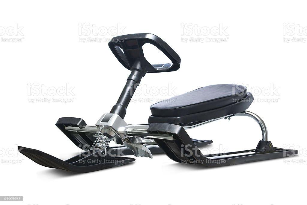 Snow sledge. stock photo