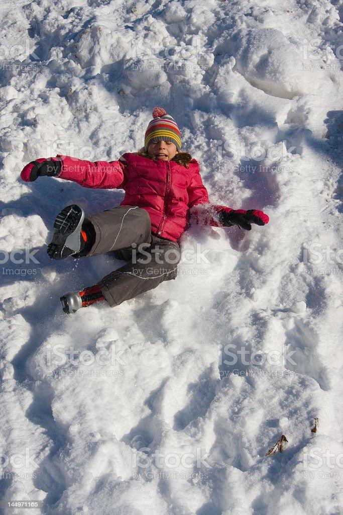 Snow slide! royalty-free stock photo