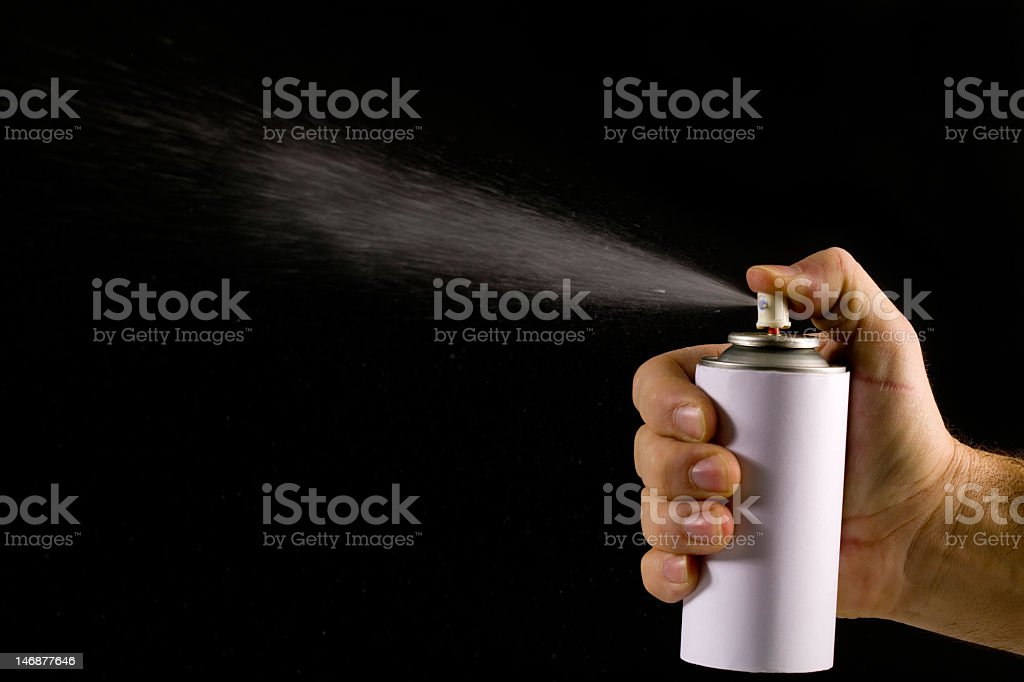 Snow spray stock photo