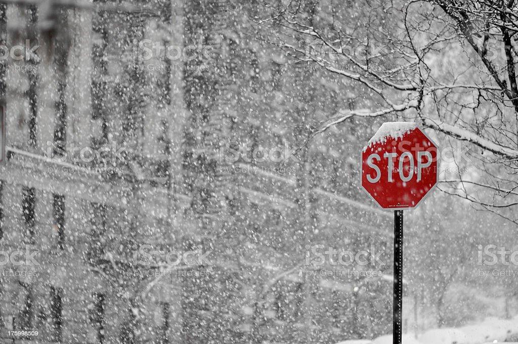 Snow Stop royalty-free stock photo