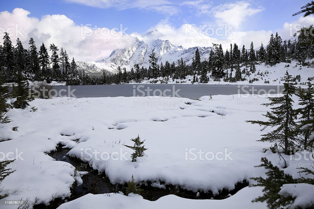 Snow storm clearning royalty-free stock photo