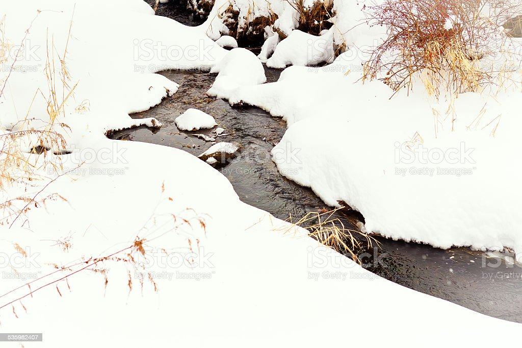Snow Stream stock photo