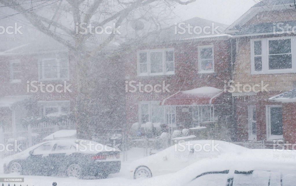snow strom stock photo
