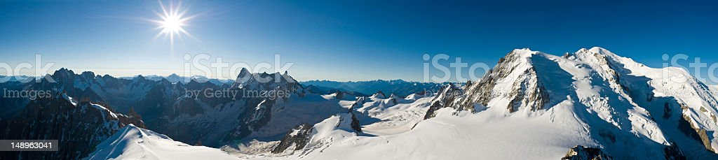 Snow summit sunburst royalty-free stock photo