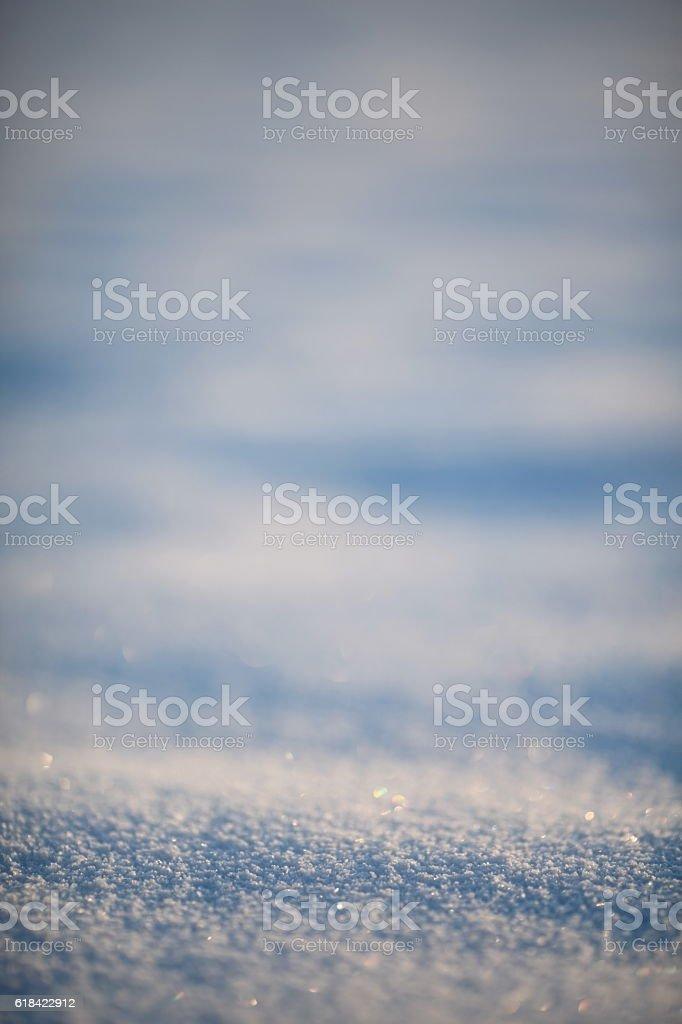 snow surface close-up stock photo