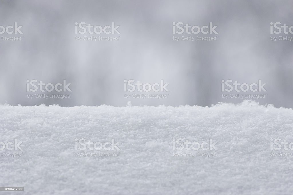 Snow Texture Background, Detailed Textured Macro Closeup, Gentle Snowy Bokeh royalty-free stock photo
