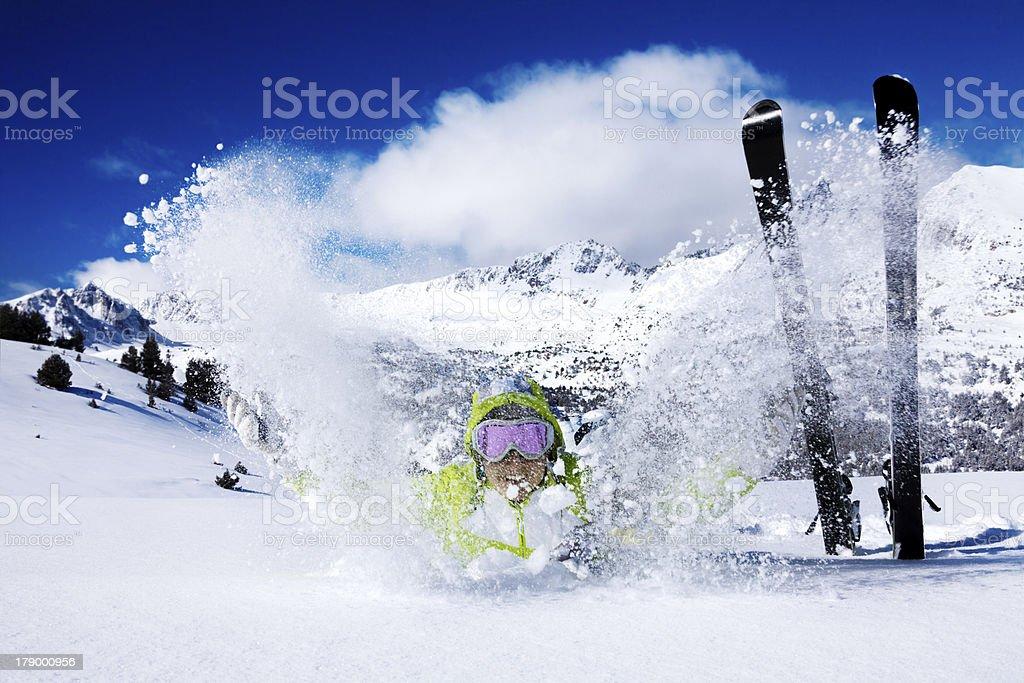 Snow throwing fun royalty-free stock photo