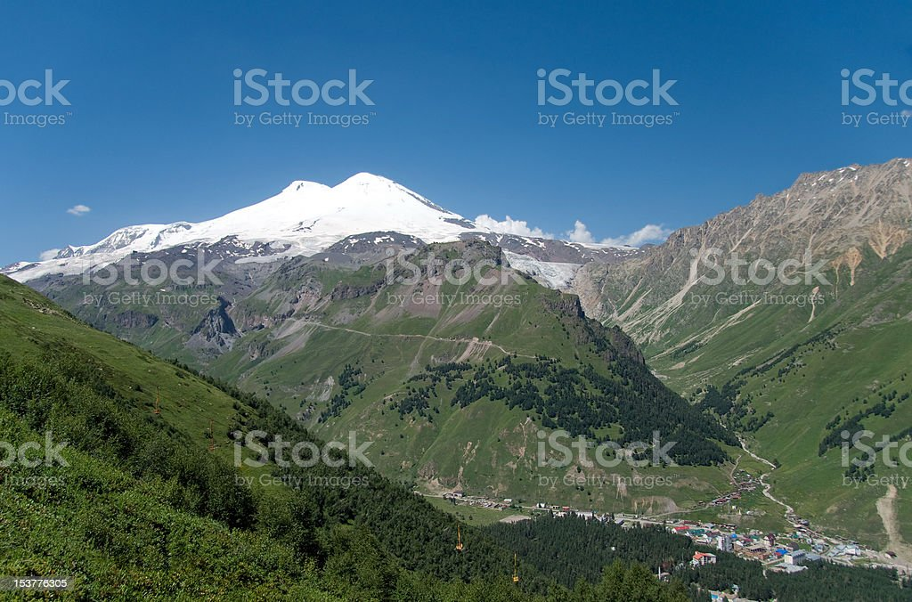 Snow tops royalty-free stock photo