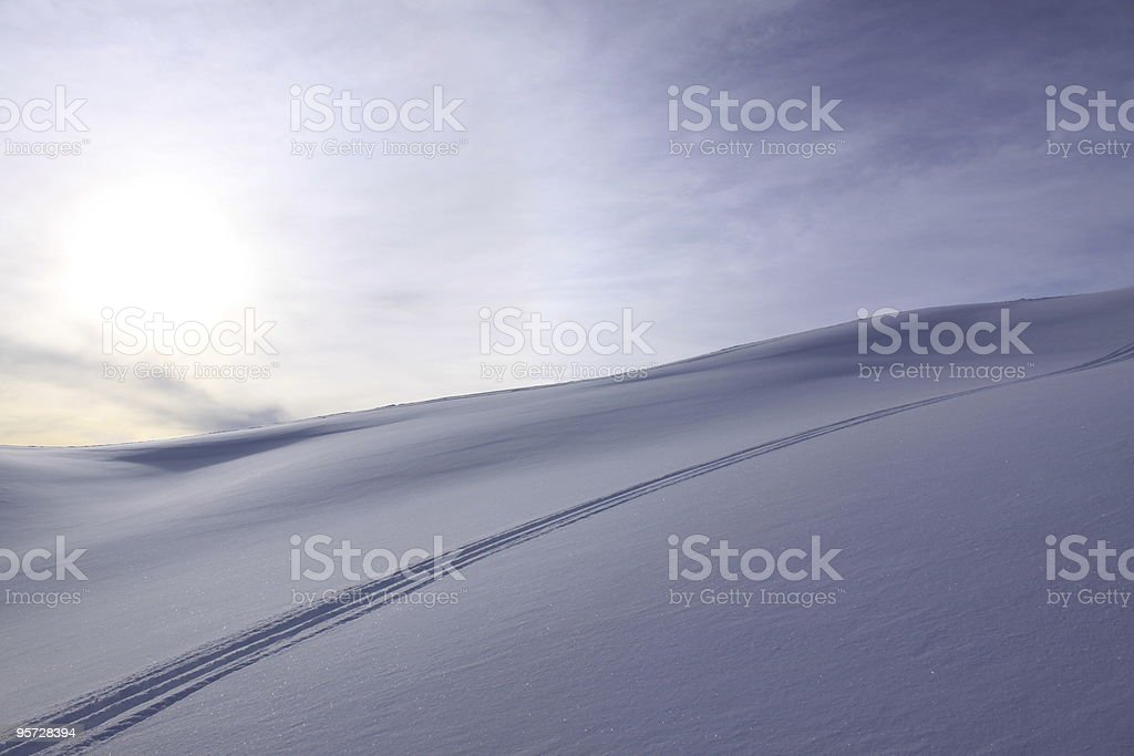 snow traces royalty-free stock photo