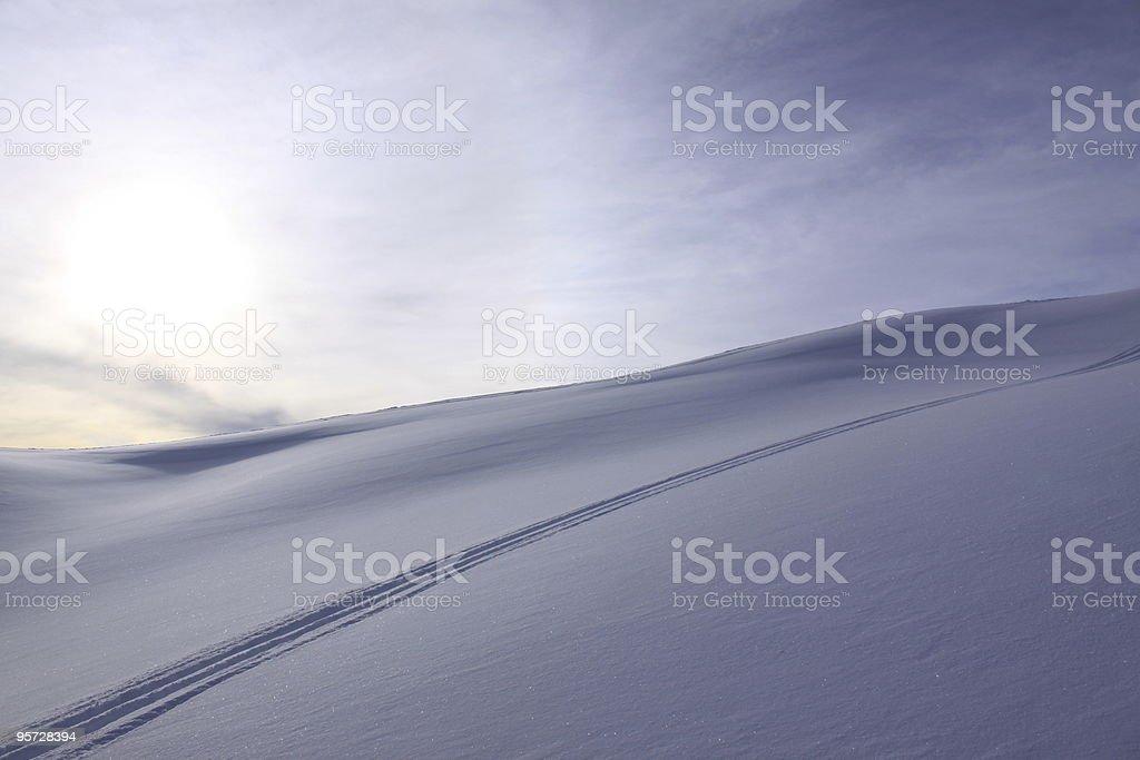 snow traces stock photo