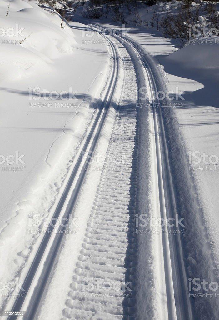 Snow track royalty-free stock photo