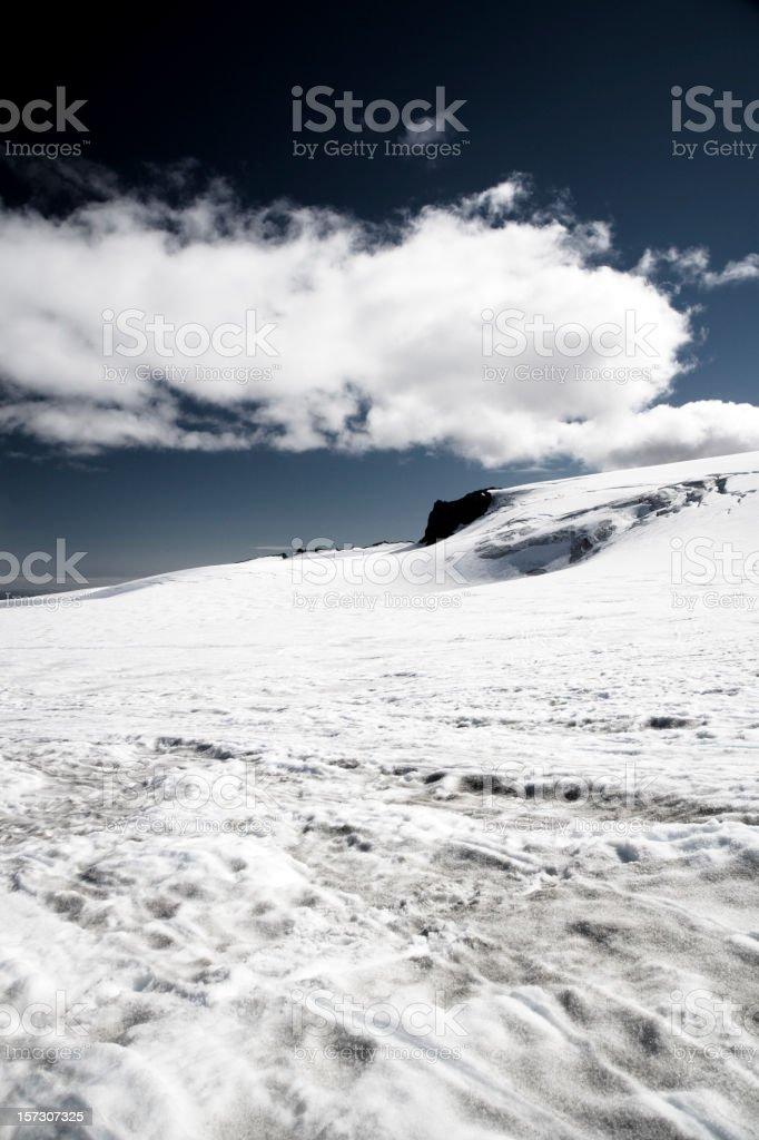 Snow Tracks on Glacier royalty-free stock photo