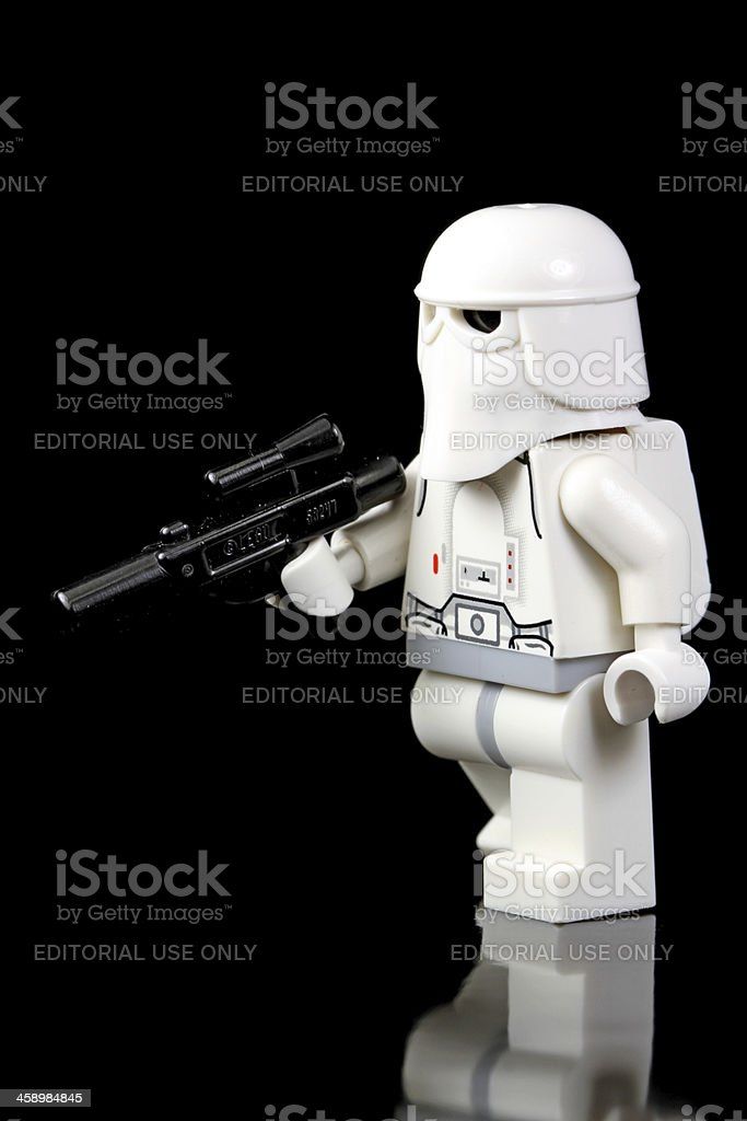 Snow Trooper Advancing stock photo