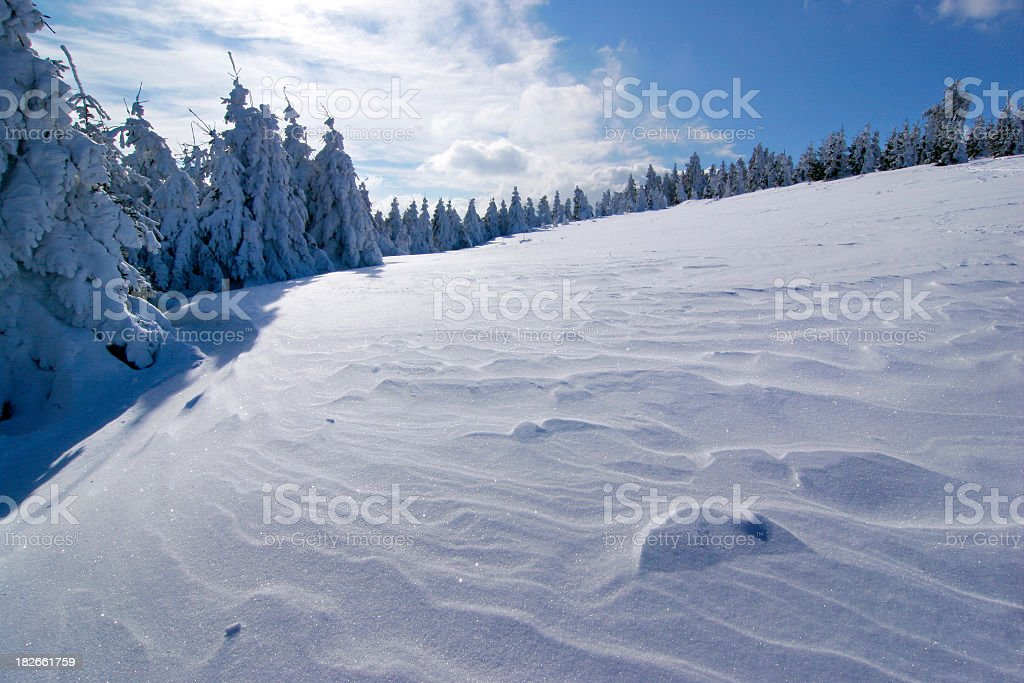 Snow - uphill view II royalty-free stock photo
