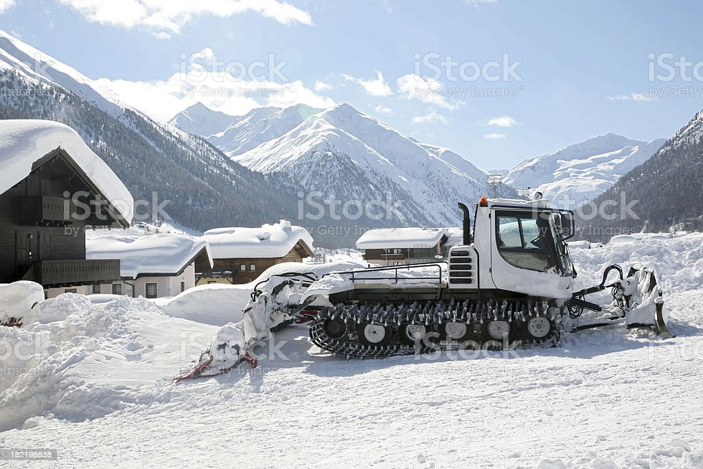 Snow vehicle royalty-free stock photo