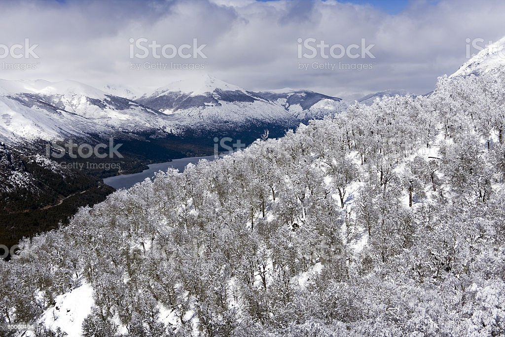 Snow view from the top royalty-free stock photo