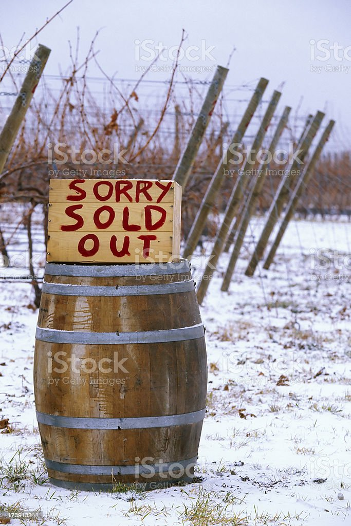 snow vineyard ice wine okanagan valley scenic royalty-free stock photo