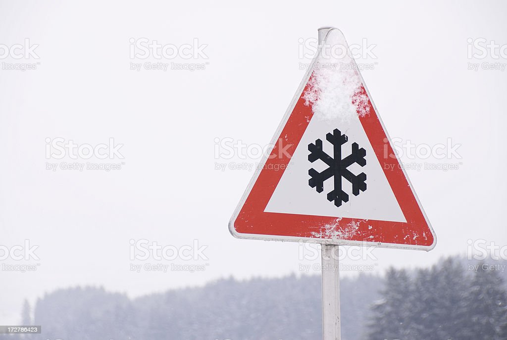 Snow Warning royalty-free stock photo