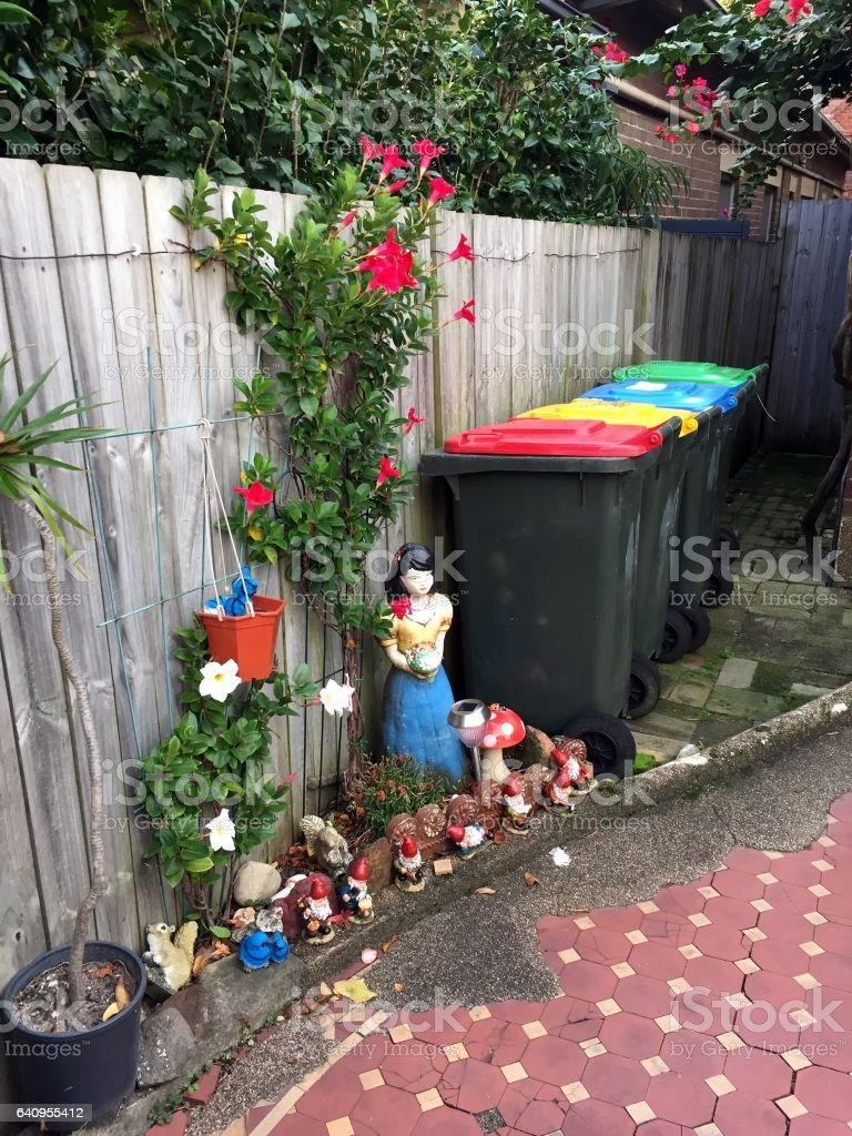 Snow white in the garden stock photo