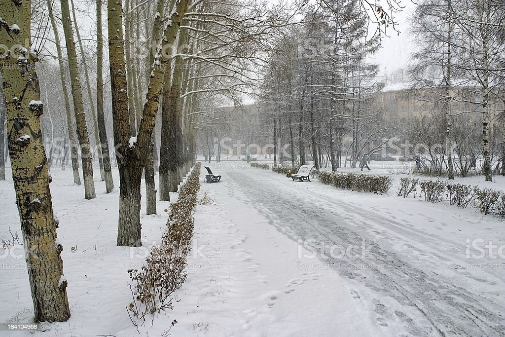 Snow winter in Town 2 royalty-free stock photo