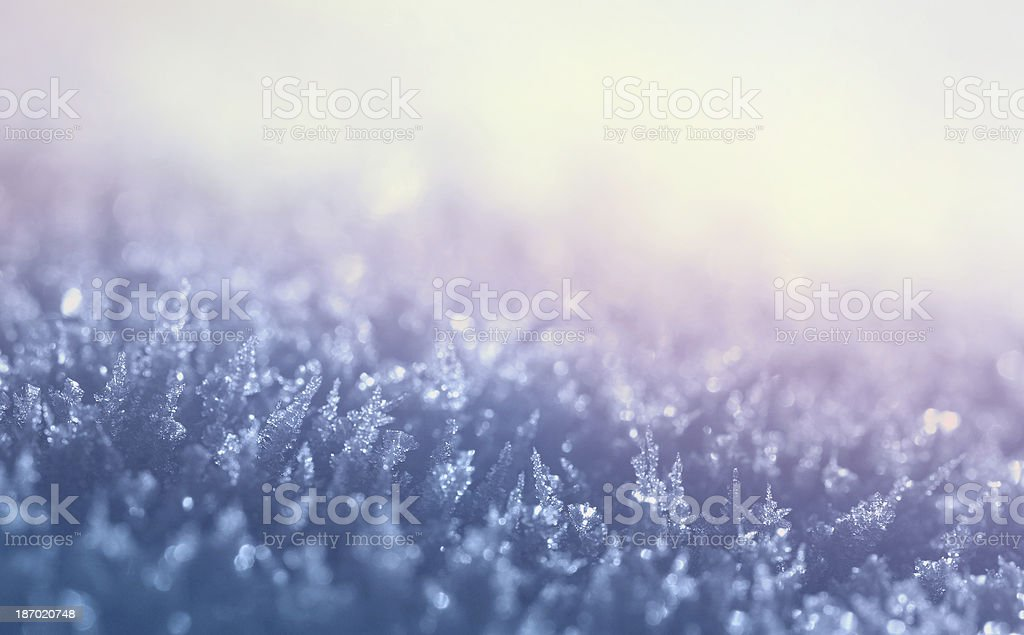 snow with crystals royalty-free stock photo