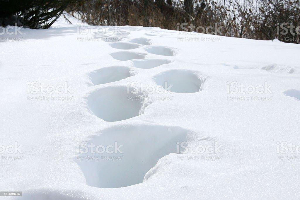 snow_footprints4 stock photo