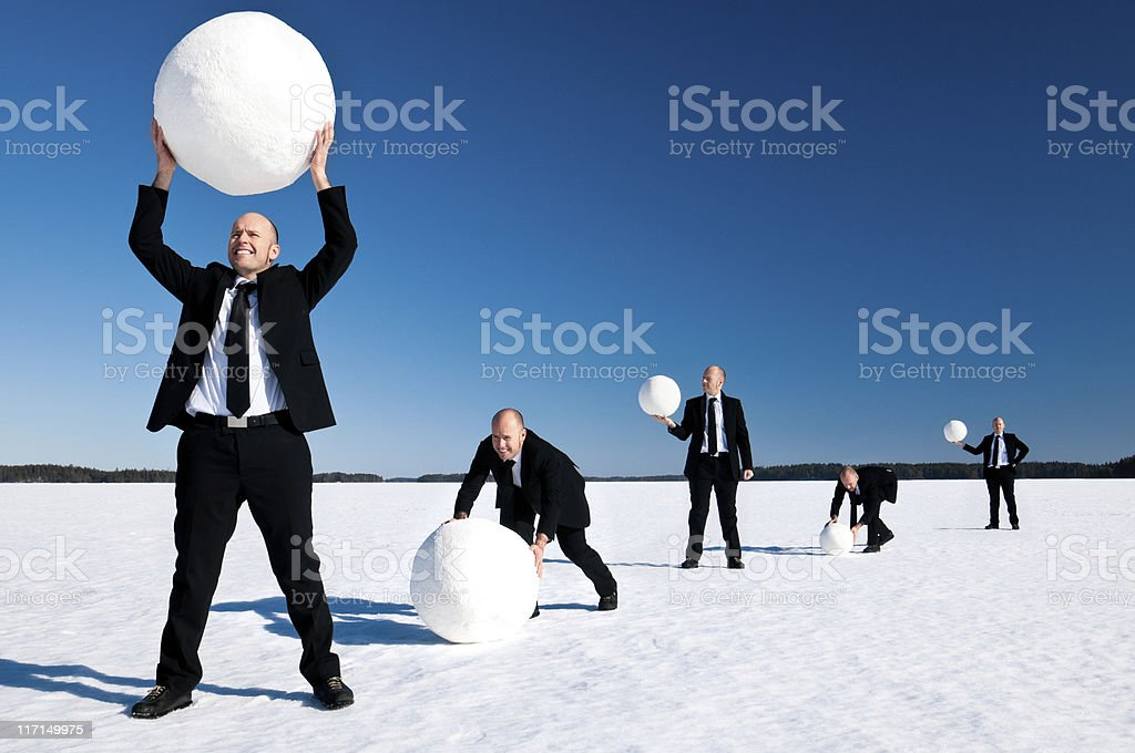 Snowball Effect stock photo