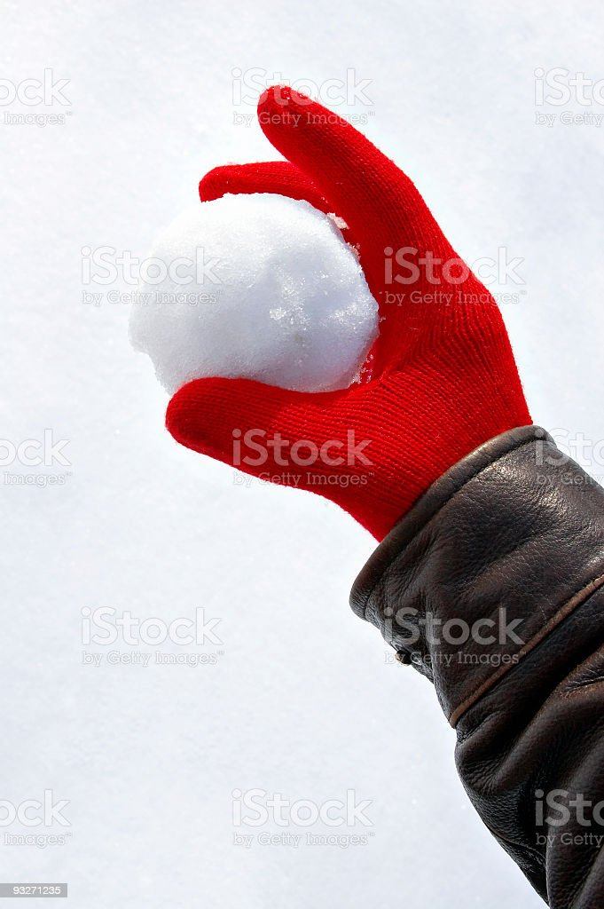 Snowball Fight #2 royalty-free stock photo