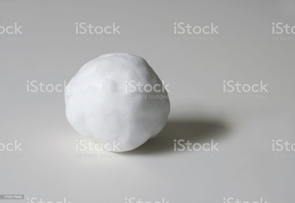 Snowball in the studio stock photo