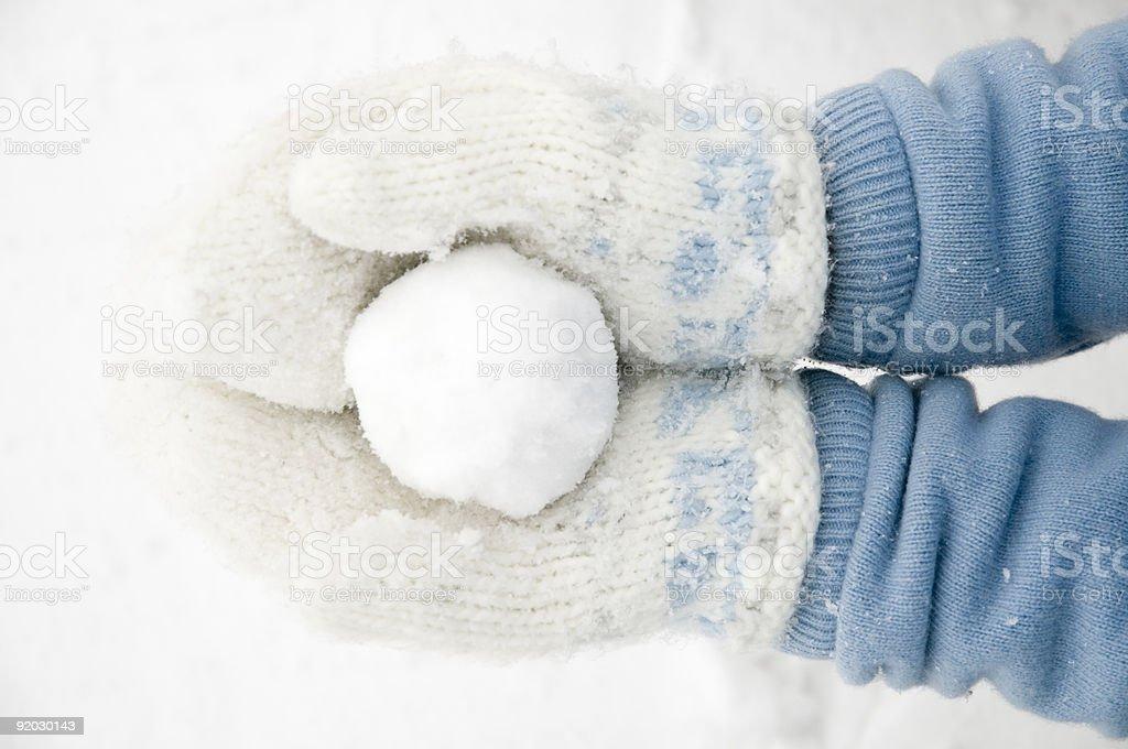 Snowball royalty-free stock photo