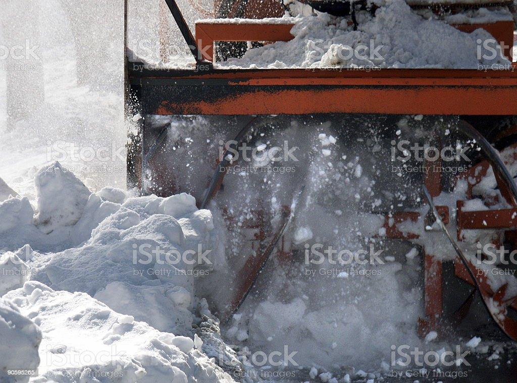 Snowblower royalty-free stock photo