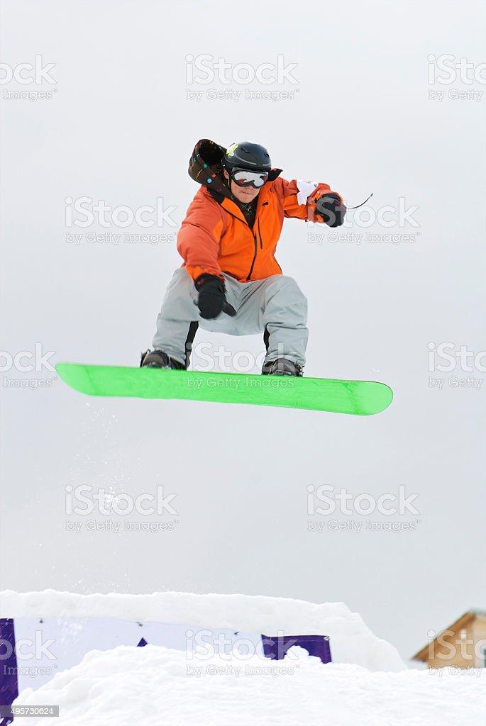 Snowboar stock photo