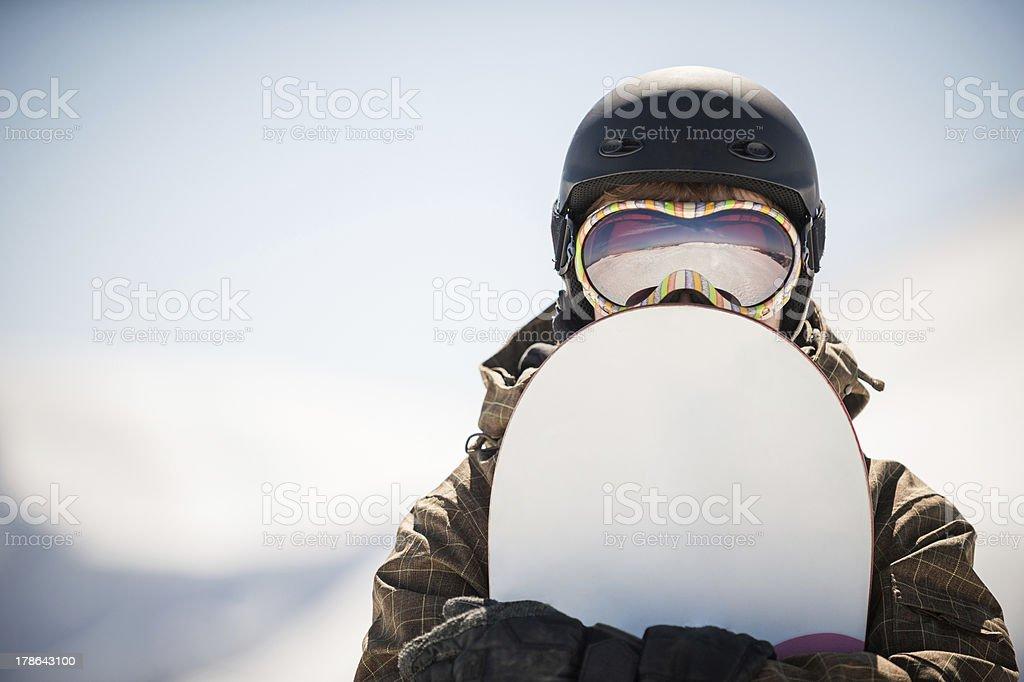 snowboard andA  snowboarder stock photo
