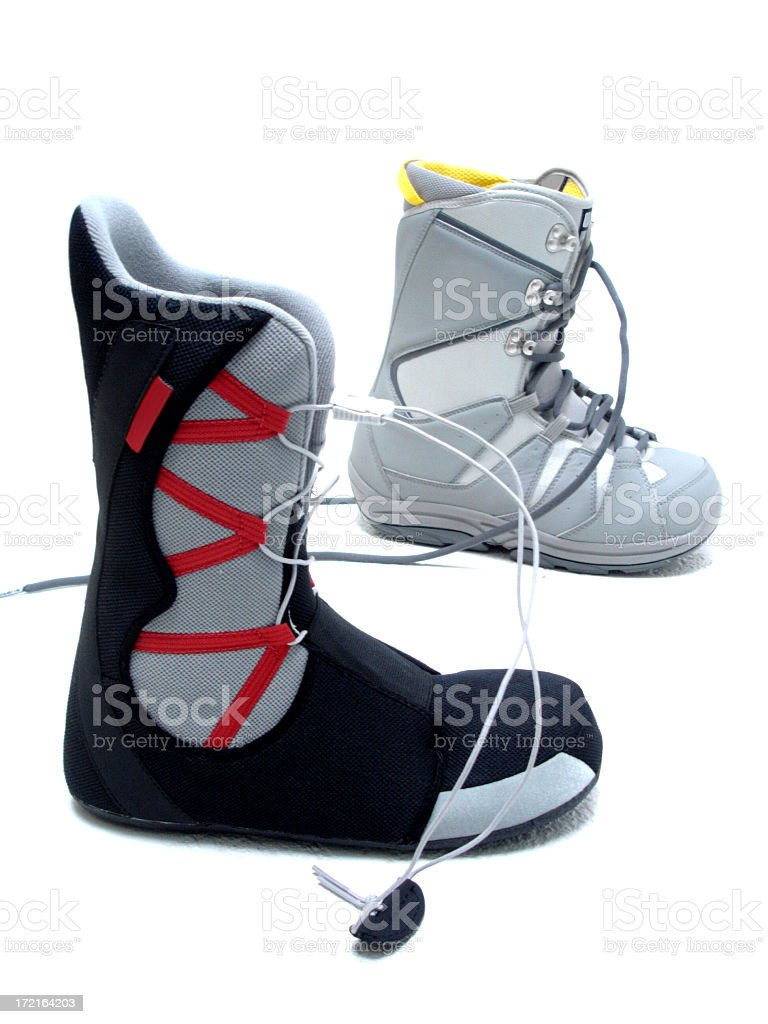 Snowboard Boots royalty-free stock photo