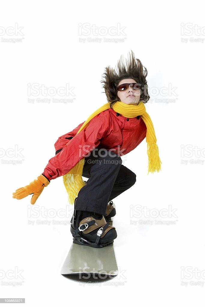 Snowboard girl royalty-free stock photo