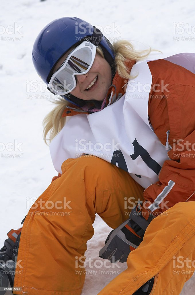 Snowboard girl royalty-free stock photo