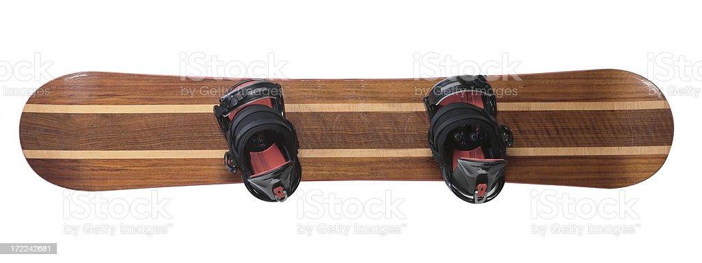 snowboard isolated stock photo