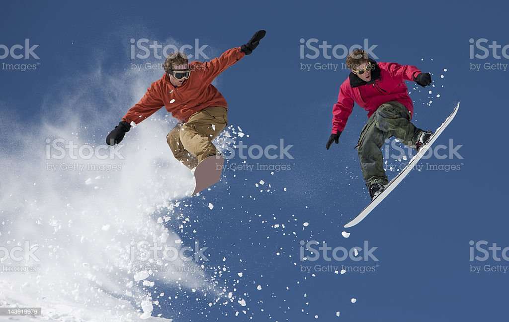 Snowboard Jump Competition royalty-free stock photo