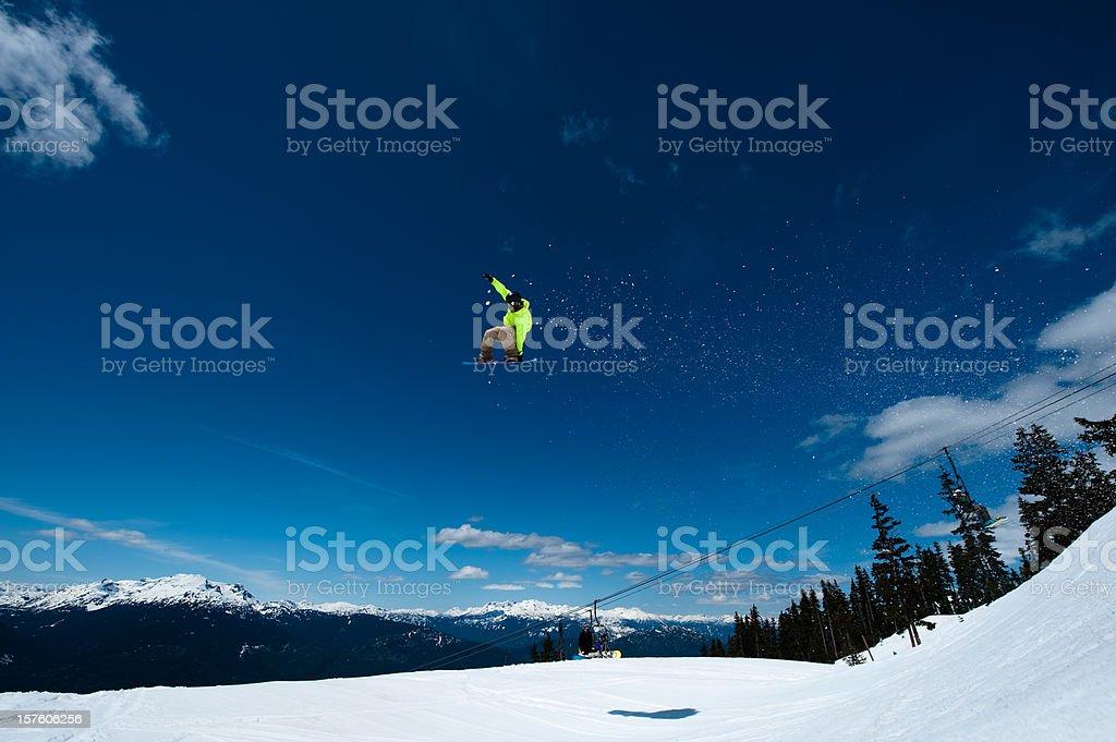 snowboard jump royalty-free stock photo