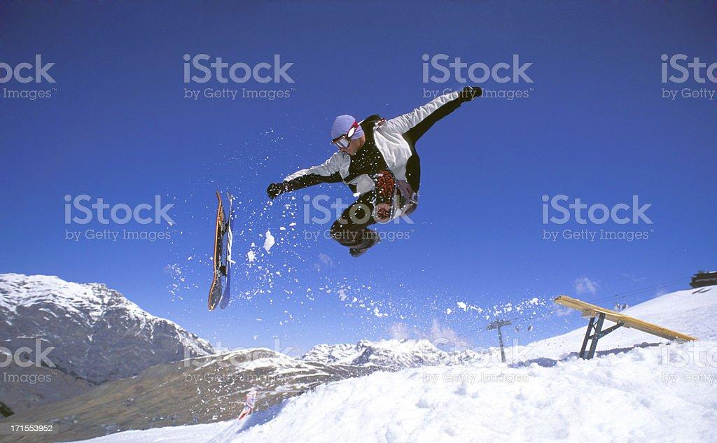 Snowboard madman stock photo