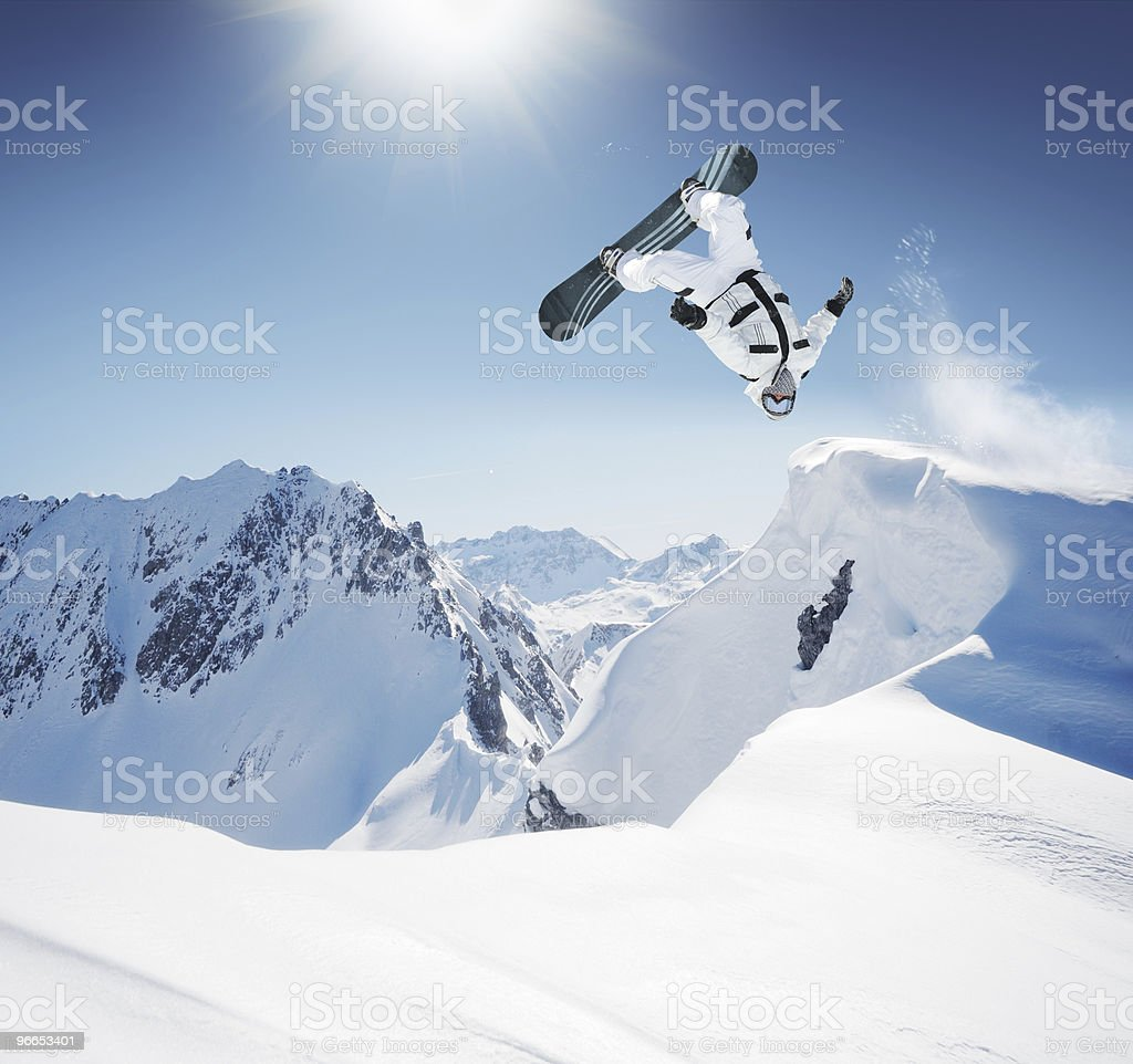 Snowboard stock photo