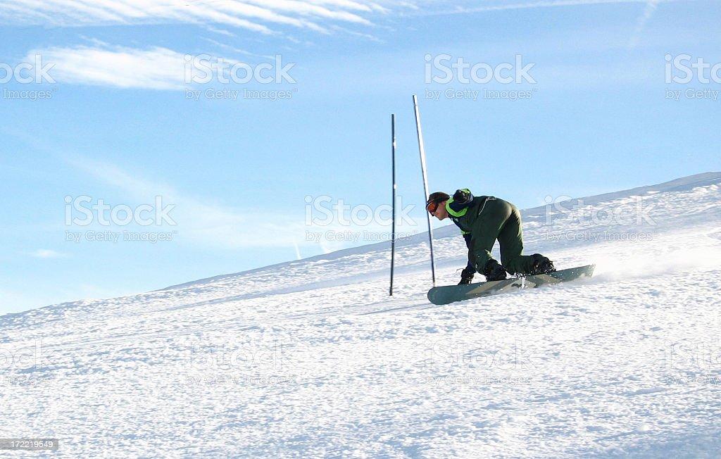 Snowboard race stock photo