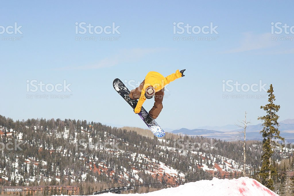 Snowboard rodeo stock photo