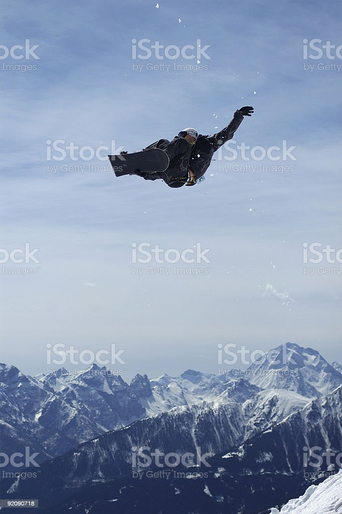 Snowboard trickster stock photo